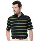 Monterey Club Mens Dry Swing Contrast Under Collar Texture Stripe Shi #1654