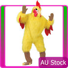 Deluxe Mens Adults Yellow Chicken Costume Rooster Funny Animal Party Farm Mascot