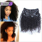 Afro Kinky Curly Clip In 100% Human Hair Extensions 10pcs 120g *7pcs 70g  Top:)