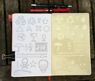 Bullet Journal Stencil. Planner Stencil, Bujo Stencil. Skulls And Umbrellas