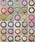 Hot Sale 30 Colors Silicone Bracelets Women/Man Jelly Beaded Wristbands 4 Sizes
