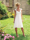 New White/Ivory sweetheart Short wedding dress bridal gown stock size 6-18