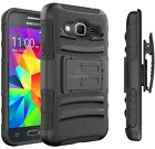 For Samsung Galaxy J1 (2016) / Amp 2 / Express 3 Armor Case w/ Belt Clip Holster