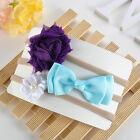 3Pcs Baby Girls Infant Toddler Flower Bow Headband Elastic Hair Band Accessories