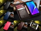 Genuine Real Leather Wallet Cards Holder Flip Case Stand Cover For Samsung S001