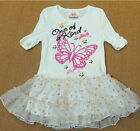 BNWT Beautees Girl Boutique Fairy Princess Butterfly TuTu Dress/Legging~4T TO 6X
