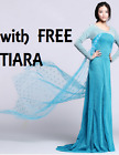 Frozen Elsa Fancy Dress Costume Gown Adult all sizes deluxe dress FREE DELIVERY