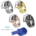 Stainless Steel Strap Band+Adapter+Case Cover For Apple Watch iWatch 38mm/42mm