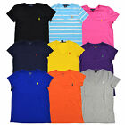 Polo Ralph Lauren Womens T-shirt Jersey Tee V Neck Top T Shirt New Xs S M L Xl
