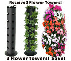 Three (3) Flower Tower Gardening Strawberry Vertical Garden Planter Plants SAVE