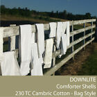 DIY Comforter Shells 230 TC Cambric Cotton - Bag Style (Down Proof) By DOWNLITE