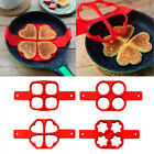 1PC Home Nonstick Pancakes Fried Egg Cake Shaper Silicone Pancake Baking Mold US