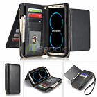 Leather Removable Wallet Flip Card Zipper Case Cover For Samsung Galaxy S8 Plus