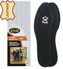 CORBBY Black Leather Insoles Shoe Inserts For Ladies and Mens All Size
