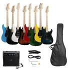 Full Size Electric Guitar + 15 Watt Amp + Gig Bag Case + Guitar Strap Beginners