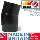 Black Stove Pipe Vitreous Enamelled Stove Pipe Kit Matt Black Flue 5 inch 6 inch