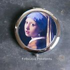 COMPACT MIRROR GIRL WITH A PEARL EARRING POCKET MIRROR DOUBLE SIDED MIRROR