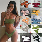 Внешний вид - Triangle Swimwear Bathing Padded Bra Bikini Set Swimsuit Women Bandage Push-up