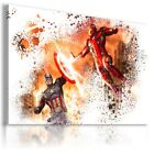 IRON MAN & CAPTAIN AMERICA Canvas Wall Art Abstract Picture Large SIZES  IM27