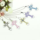 CH New Unisex's Men Stainless Steel Cross Necklace Pendant Chain Jewelry Gift