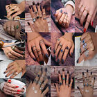 CHIC 5X Geometric Women Bohemian Vintage Silver Plated Stack Above Knuckle Rings