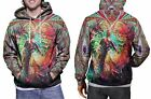 DMT Trippy Psychedelic Art New Hoodie Mens RARE ITEMS