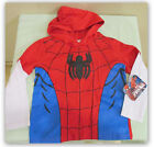 Marvel Ultimate Spiderman 2fer look long sleeve hooded tee shirt boys 5T