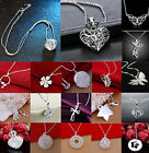 Wholesale Lady /Womens's 925Silver Jewelry Pendant Necklace Chain Jewellery CHIC