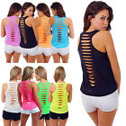 CH Women Summer Vest Top Sleeveless Shirt Blouse Cotton Casual Tank Tops T-Shirt