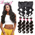Ear To Ear Lace Frontal Closure With 3 Bundles 7A Filipino Virgin Hair Body Wave