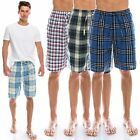 "TINFL Plaid Check Soft Flannel Lounge Mens Short Pajama Pants ""MSP 20style"" S-XL"