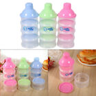 Infant Baby 4 Layers Milk Power Container Formula Dispenser Plastic W/Lids Pink