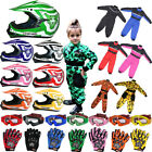 Leopard LEOX17 Children Kids Motocross Helmet Camo Race Suit Gloves Goggles QUAD