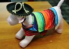 Mexican Sombrero And Poncho Set Halloween Costume for Dog