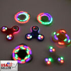 NEW WHOLESALE LED Various Color Rainbow Tri Spinner Fidget Toy EDC Hand Finger