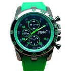 Luxury Mens Sport Watch Silicone Band Casual Analog Quartz Wrist Watches Unisex