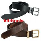 Carhartt 2200 Brown or Black Leather Jean Belt, Next Day Available