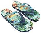 Boys Hawaiian Floral Flip Flops Beach Toe Post Sandals UK Shoe sizes 13 to 6