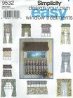 Simplicity 9532 Window Treatments   Sewing Pattern