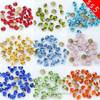 10/100gross ss5 1.8mm color point back crystal rhinestones Glass Chatons Strass