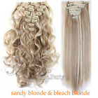 Full Head Clip In Hair Extensions CharmOL/Trip/Show/Date For Women Human Lady A2