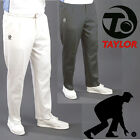 Thomas Taylor Mens Sport Trousers Lawn Bowls White Black Grey Tracksuit Pants
