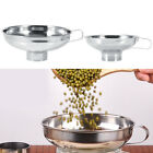 Small Large Wide Mouth Funnel W/ Handle Stainless Steel - Sugar Beans Grains Oil
