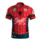 SYDNEY ROOSTERS NRL 2017 SPIDERMAN HERO SUPERHERO OFFICIAL MENS JERSEY