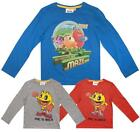 Boys Official Pac-Man aMAZEing Friends Pac is Back Long Sleeve Top 3 to 8 Years