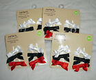Lot NEW Carter's Fun & Fancy Hair Clips Baby Infant Girls Bows Red White Black