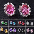 Neu New Fashion Women Elegant Crystal Rhinestone Ear Stud Earrings Gift Jewelry