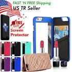Luxury Card Slot Wallet Flip Stand Case Cover With Mirror For iPhone 6 6s 7 Plus $8.98 USD