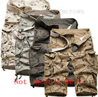 Cool Mens Military Combat Camo Cargo Shorts Pants Work Casual Short Army Trouser
