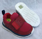 BNIB Clarks Boys Ath Leap Red Combi Leather First Trainers F/G Fitting